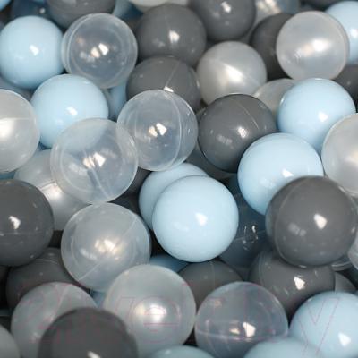 Шары для сухого бассейна Romana ДМФ-ЭЛК-20.00.01 (150шт, голубой/серый/жемчужный/прозрачный)