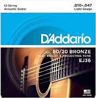 Струны для 12-струнной гитары D'Addario EJ36 -