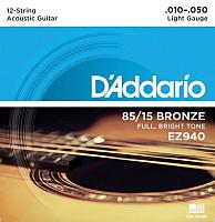 Струны для 12-струнной гитары D'Addario EZ940 -