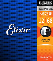 Струны для электрогитары Elixir Strings 12302 (12-68) -