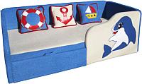 Кровать-тахта детская М-Стиль Дельфин (правая) -