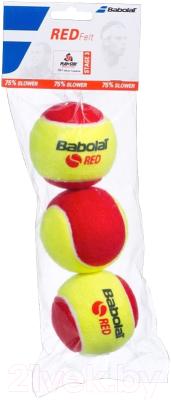 Набор теннисных мячей Babolat Red / 501036 (3шт, желтый/красный)