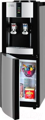 Кулер для воды Ecotronic V21-LE со шкафчиком (серебристый/черный)