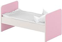 Односпальная кровать Славянская столица ДУ-КО16 (белый/розовый) -