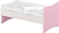 Односпальная кровать Славянская столица ДУ-КО14-13 (белый/розовый) -