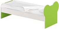 Односпальная кровать Славянская столица ДУ-КО16-10 (белый/зеленый) -