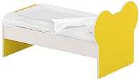 Односпальная кровать Славянская столица ДУ-КО16-10 (белый/желтый) -