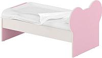 Односпальная кровать Славянская столица ДУ-КО16-10 (белый/розовый) -