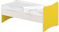 Односпальная кровать Славянская столица ДУ-КО14-13 (белый/желтый) -