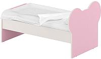 Односпальная кровать Славянская столица ДУ-КО14-10 (белый/розовый) -