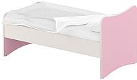 Односпальная кровать Славянская столица ДУ-КО16-13 (белый/розовый) -