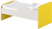 Односпальная кровать Славянская столица ДУ-КО16-11 (белый/желтый) -
