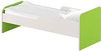 Односпальная кровать Славянская столица ДУ-КО16-11 (белый/зеленый) -