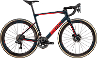 Велосипед BMC Roadmachine One Dura Ace Di2 2019 / RM01 (54, синий/красный/черный) -