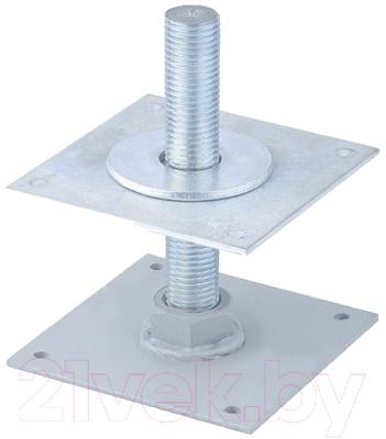 Анкер регулировочный СибрТех 46561 анкер регулировочный оцинкованный м20 h200 100х100х4 мм