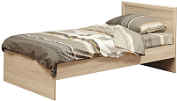 Односпальная кровать Олмеко 21.55 с настилом (дуб сонома) -