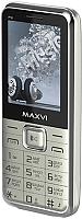Мобильный телефон Maxvi P16 (серебристый) -