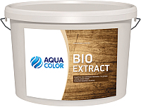 Защитно-декоративный состав AquaColor Bio Extract (10л, махагон) -