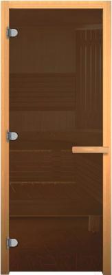 Стеклянная дверь для бани/сауны Везувий 1800x700