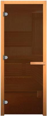 Стеклянная дверь для бани/сауны Везувий 201x81