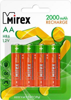 Комплект аккумуляторов Mirex HR6 2000mAh / HR6-20-E4 (4шт)