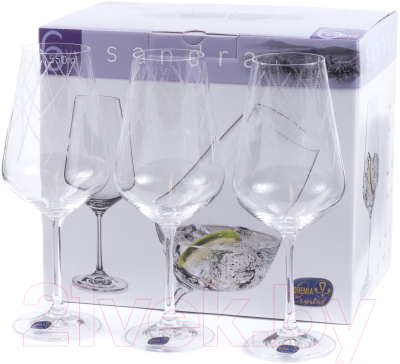 Набор бокалов Bohemia Crystal Sandra 40728/C5987/550 (6шт)