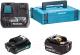 Набор аккумуляторов для электроинструмента Makita BL1021B + BL1850B с зарядным DC18RE (199024-2) -