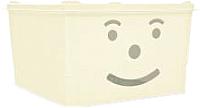 Ящик для хранения Полимербыт Улыбка / 830-83000 (белый) -