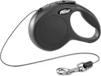 Поводок-рулетка Flexi New Classic трос / 11771 (XS, черный) -