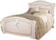 Двуспальная кровать ФорестДекоГрупп Валерия 160 / СП005-05 (белый) -