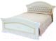 Двуспальная кровать ФорестДекоГрупп Любава 160 / СП007-05 (белый) -