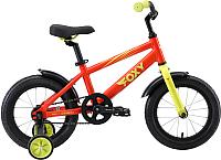 Детский велосипед STARK Foxy 14 2019 (оранжевый/зеленый) -