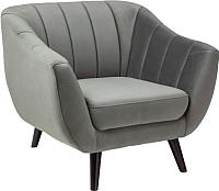 Кресло мягкое Signal Elite 1 Velvet (Bluvel14 серый) -