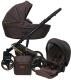 Детская универсальная коляска Ray Ultra Gold 2 в 1 (4/30/коричневая кожа) -