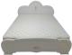 Односпальная кровать ФорестДекоГрупп Щара 90 / СП002-08 (белый) -