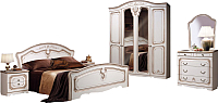 Комплект мебели для спальни ФорестДекоГрупп Валерия-4 (жемчуг) -