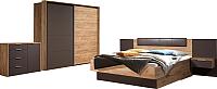 Комплект мебели для спальни ФорестДекоГрупп Терра (орех) -