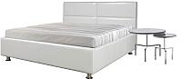 Полуторная кровать Мебель-Парк Линда 200x140 (белый) -
