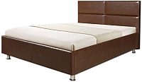 Полуторная кровать Мебель-Парк Линда 200x140 (коричневый) -