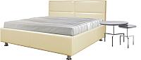 Полуторная кровать Мебель-Парк Линда 200x140 (кремовый) -