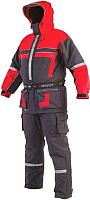 Костюм для охоты и рыбалки Seafox Extreme 2pc / SFXCRSFL2CN-XXL (черный/красный) -