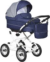 Детская универсальная коляска INDIGO Barbara Classic 19 2 в 1 (Ba 21, темно-синий/темно-синий узор) -