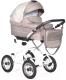 Детская универсальная коляска INDIGO Barbara 19 Classic 2 в 1  (Ba 23, бежевый/бежевый узор) -