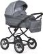 Детская универсальная коляска INDIGO Barbara Classic 19 2 в 1 (Ba 25, темно-серый/серый узор) -