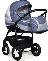 Детская универсальная коляска INDIGO 18 Special 2 в 1 (Sp07, джинс/светло-синий/белая кожа) -
