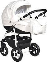 Детская универсальная коляска INDIGO 18 Special 2 в 1 (Sp 12, белая кожа) -