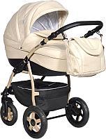 Детская универсальная коляска INDIGO 18 Spesial 2 в 1 (Sp 13, бежевая кожа) -