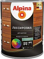 Защитно-декоративный состав Alpina Лессировка (2.5л, черный) -