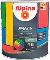 Эмаль Alpina Универсальная (750мл, серый шелковисто-матовый) -