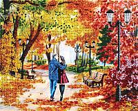 Набор для вышивания БЕЛОСНЕЖКА Осенний парк, скамейка, двое / 9042-CM -